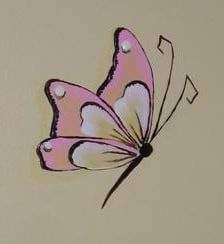 hand painted butterfly girls room