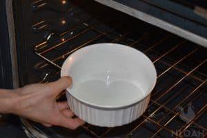 milk in oven