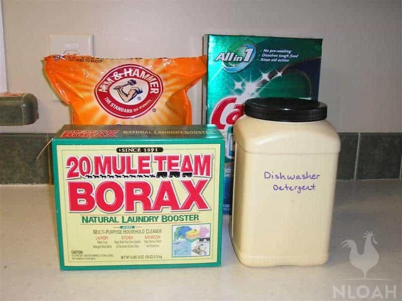 dishwasher detergent and other cleaners