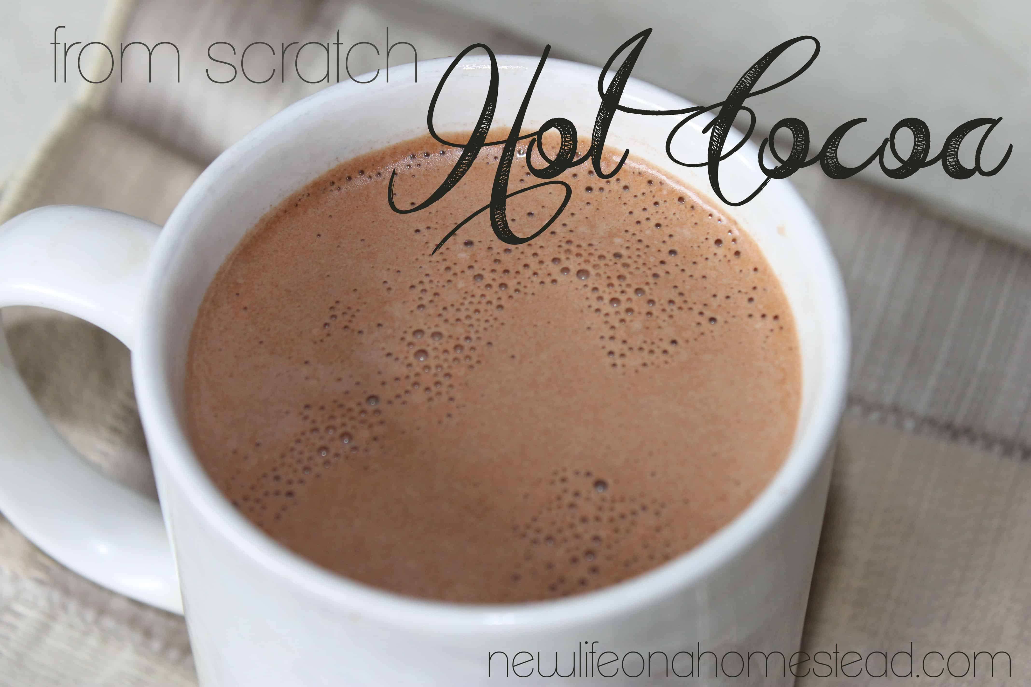 from scratch hot cocoa