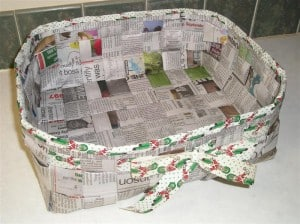 newspaper basket instructions