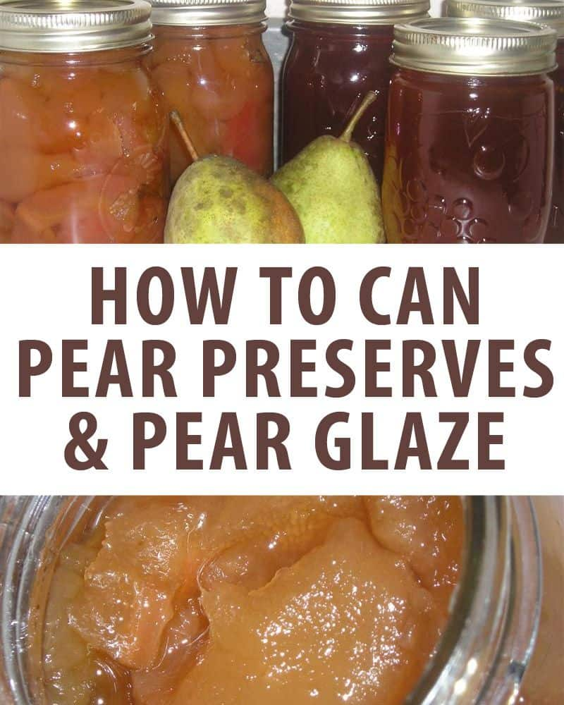 canning pear preserves