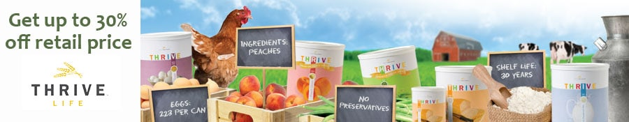 Get Up To 30% Off Thrive Freeze Dried Foods