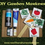 DIY painted tile garden markers