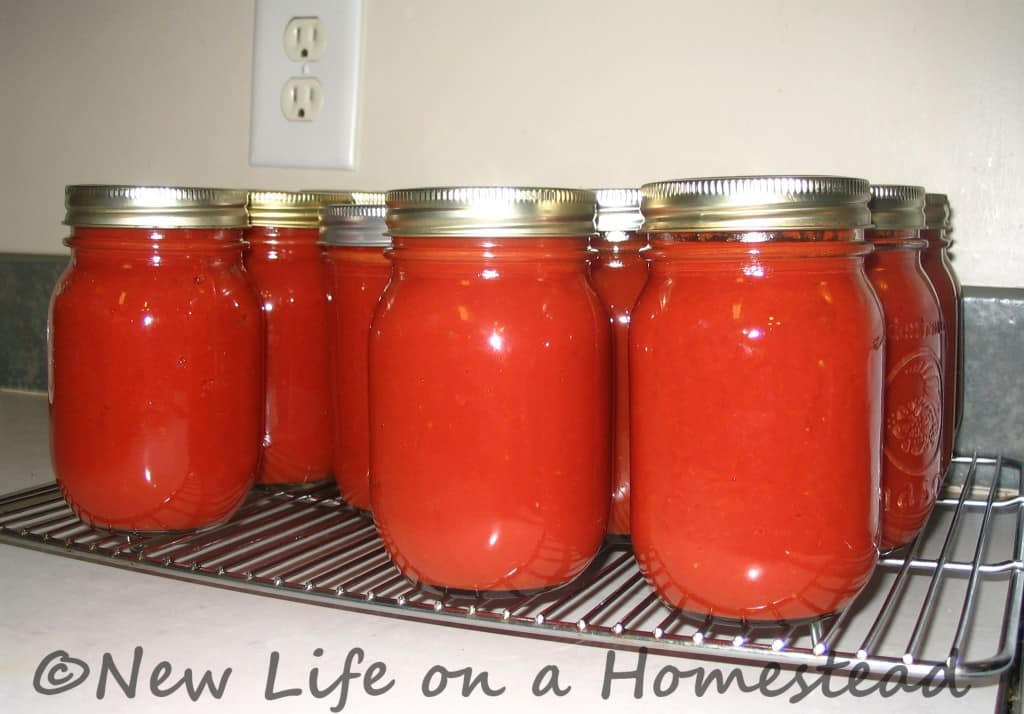 Tomato Sauce Canning Recipe http://newlifeonahomestead.com