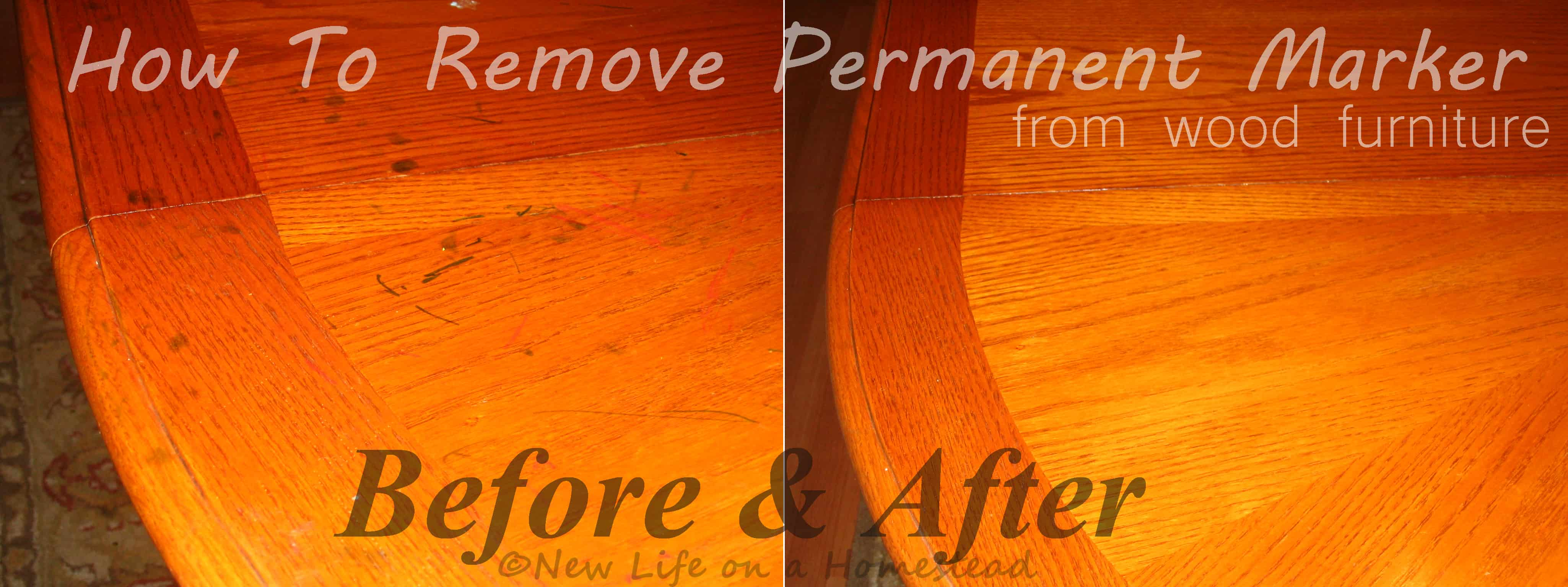 How To Remove Permanent Marker from Wood Furniture https://newlifeonahomestead.com