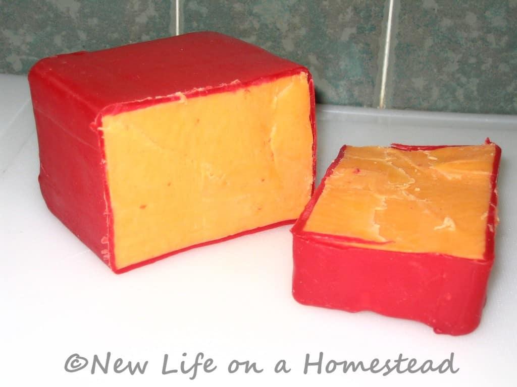 waxed cheese