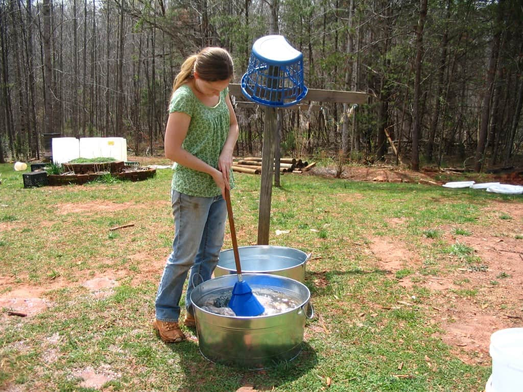 hand washing clothes