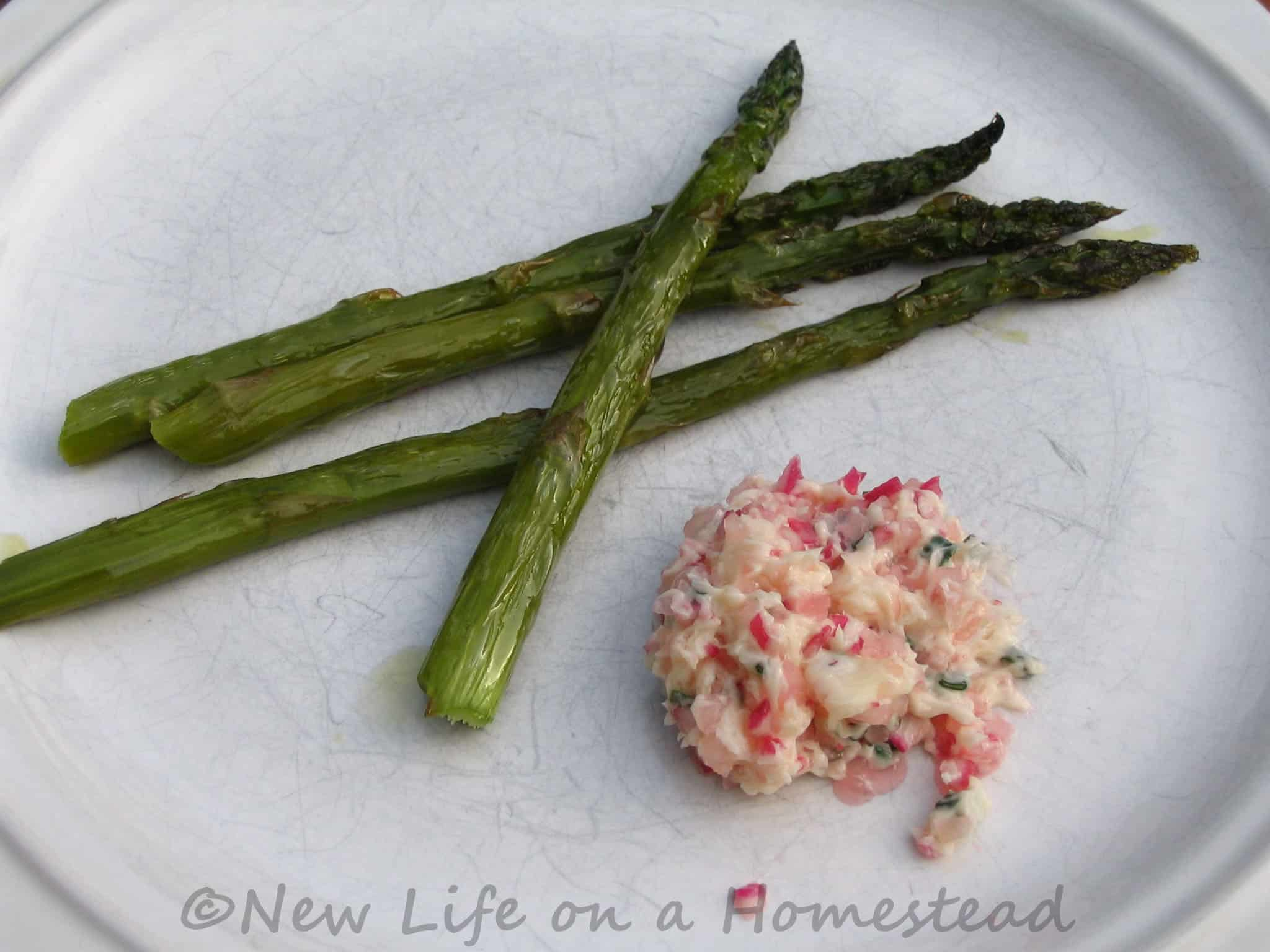 Roasted Asparagus with Radish and Chive Butter