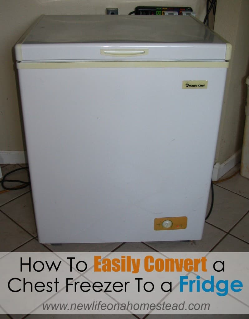 How To Convert a Chest Freezer to Fridge