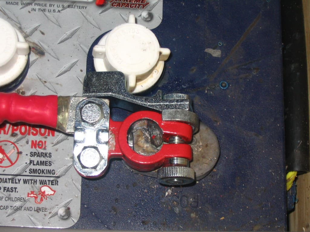 repaired battery terminal