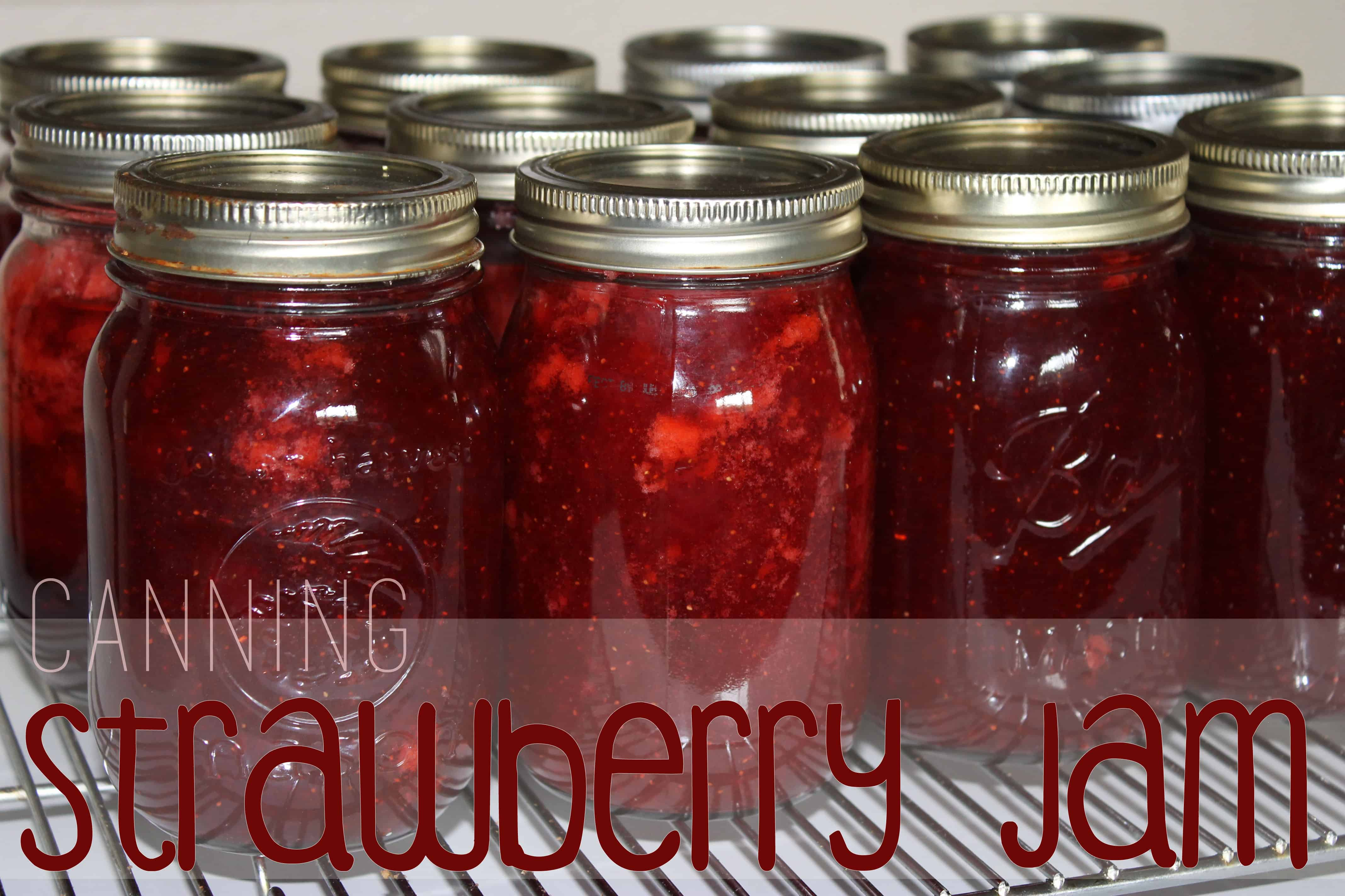 canning strawberry jam