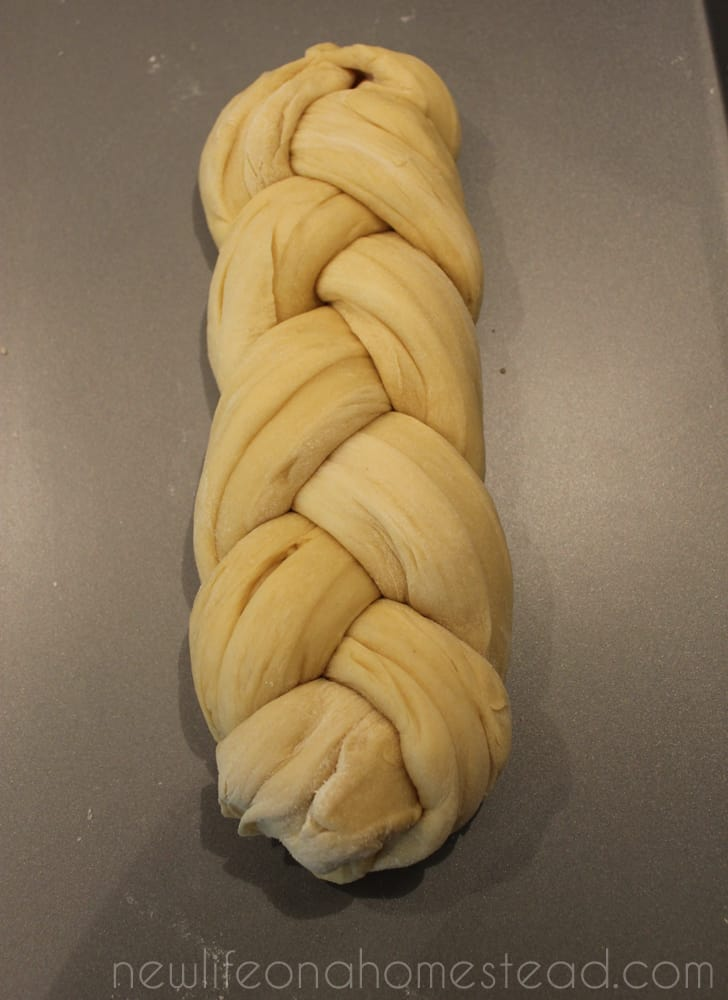 braided bread finished