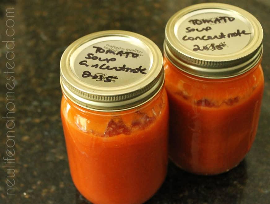 Condensed Tomato Soup Canning Recipe | newlifeonahomestead.com