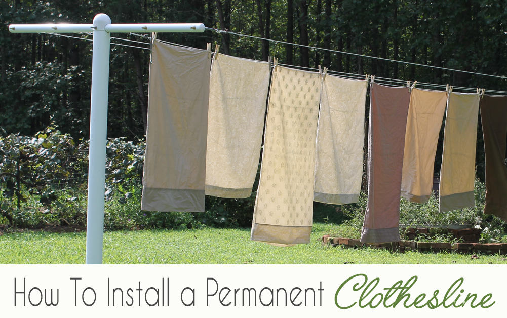 How To Install A Permanent Clothesline. Metal vs Wood.