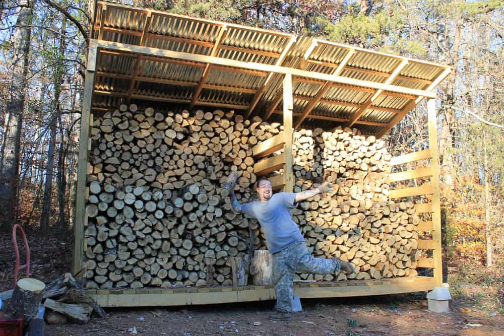 Firewood storage, and why you want a woodshed on your homestead.