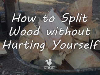 how to split wood featured