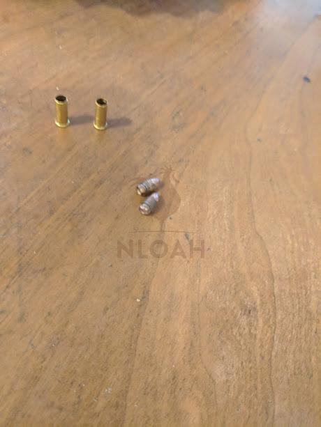 .22 caliber rounds taken apart
