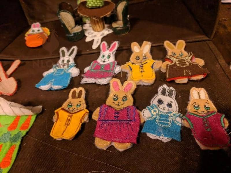 finished bunnies embroideries
