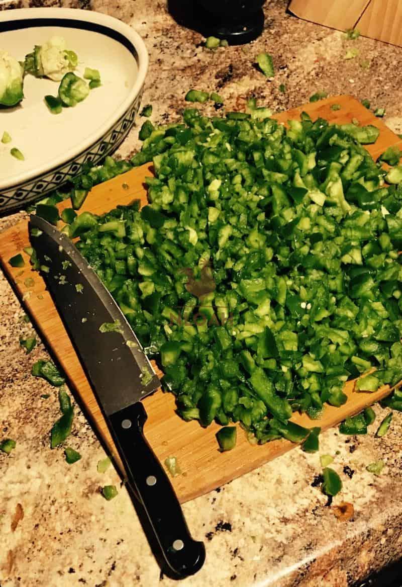 chopped salsa recipe veggies