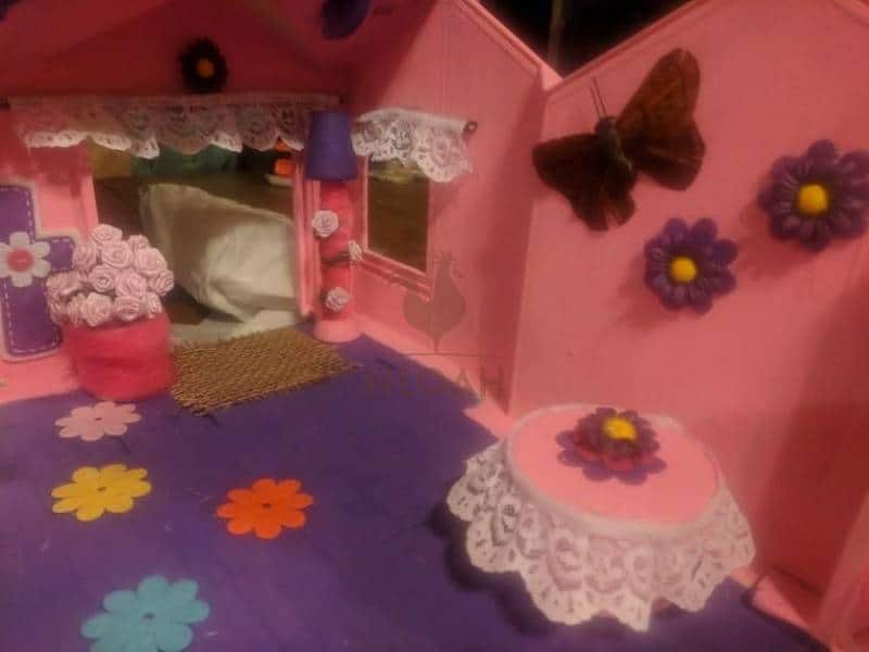 decorated dollhouse