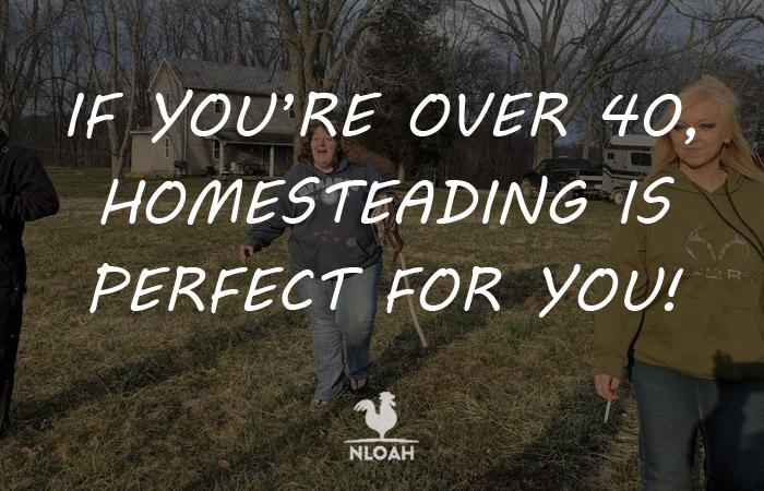 homesteading over 40 logo