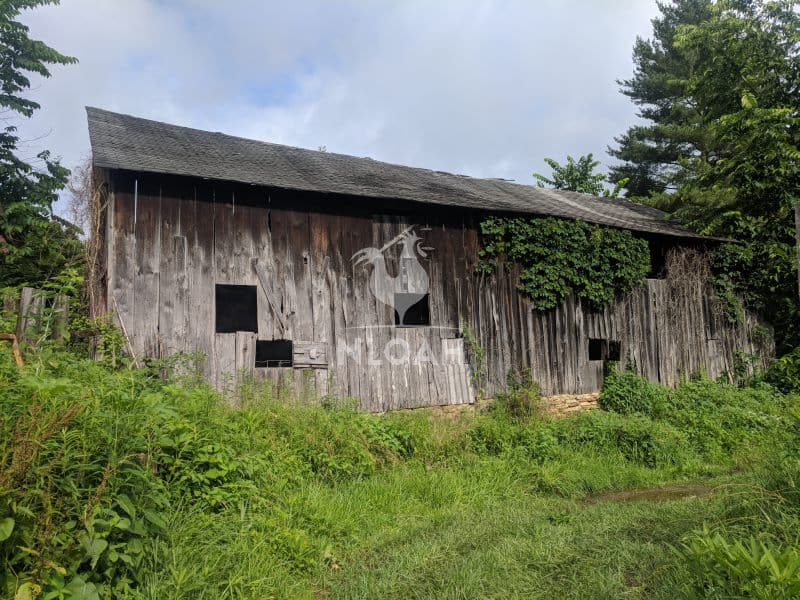 old barn from the side
