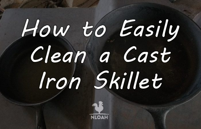 clean cast iron skillet featured