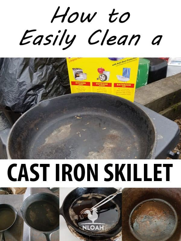 clean cast iron skillet pinterest