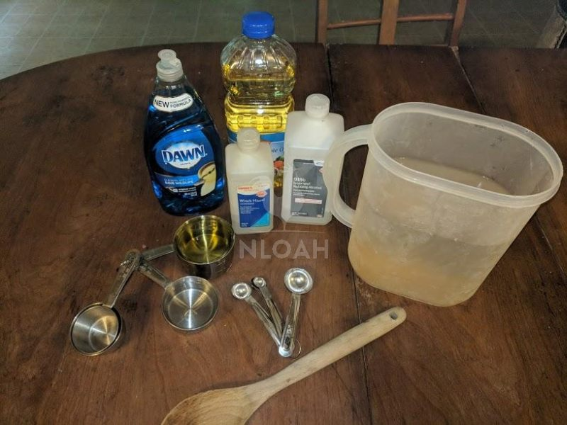 diy beetle spray supplies
