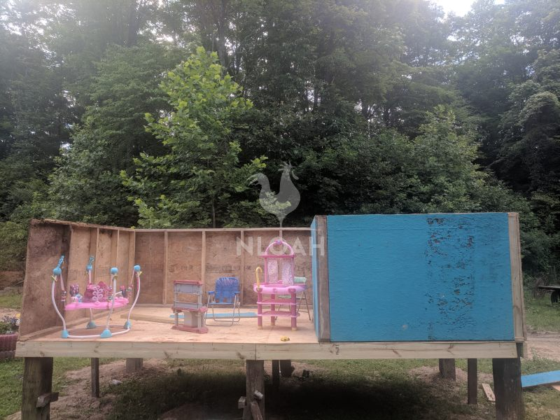diy playhouse partially done