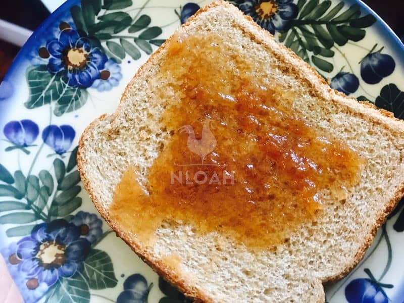 apple butter on toast
