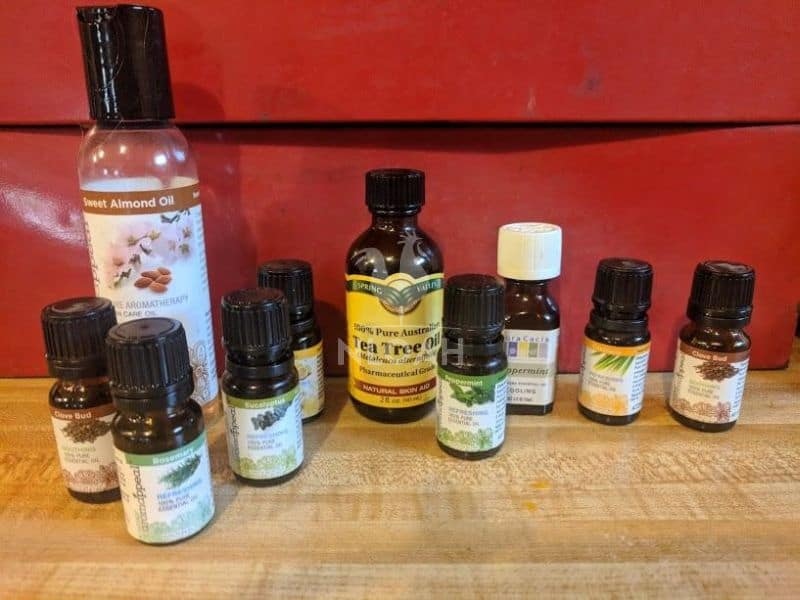 essential oils and almond oil