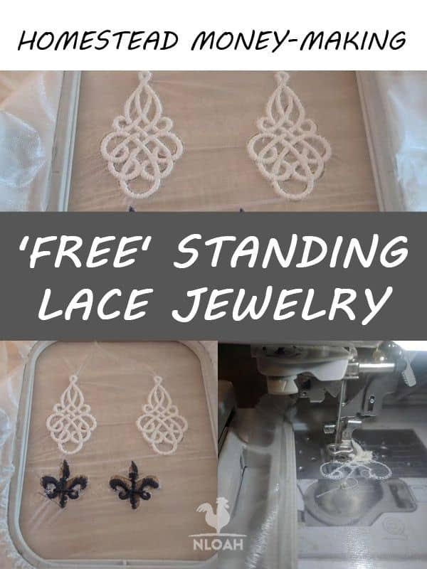 free standing lace jewellry pinterest