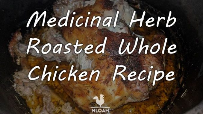 medicinal herb roasted chicken logo