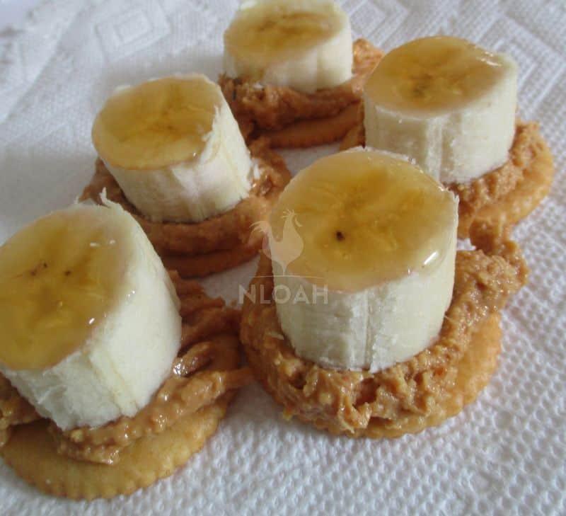 PB banana honey crackers
