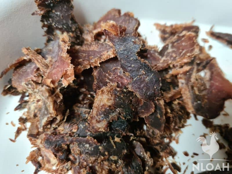 thinly sliced beef jerky