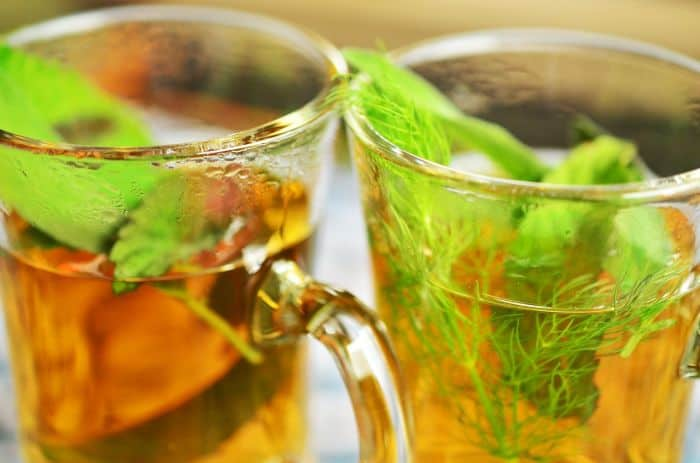 herbal fennel tea
