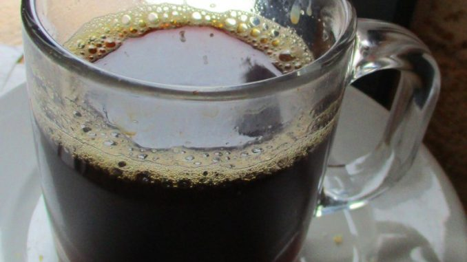 black coffee with cognac