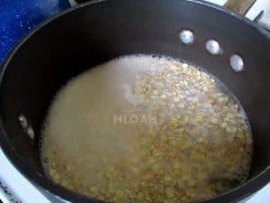stirring the oats