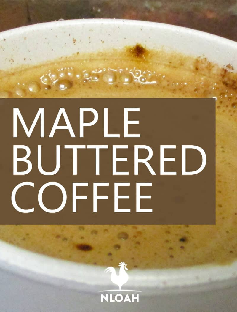 maple buttered coffee pin