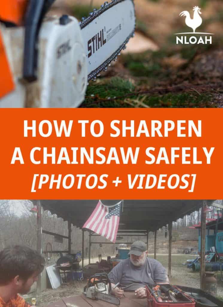 sharpening a chainsaw pinterest