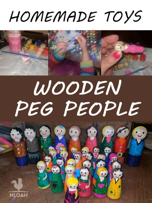 wooden peg people pin