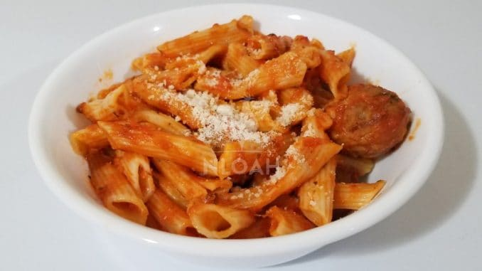 Penne and Meatballs