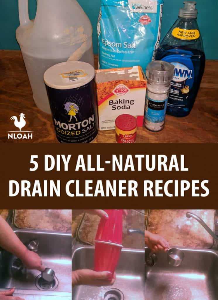 diy all natural drain cleaner pinterest