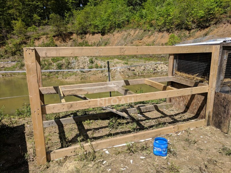 diy chicken run structure