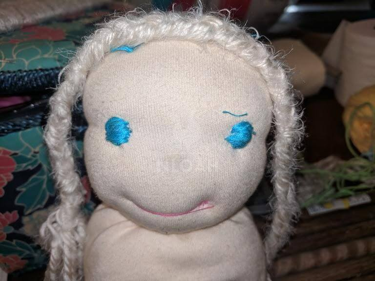 doll head with wig