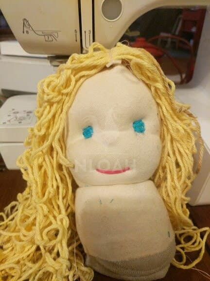 waldorf doll with a wig