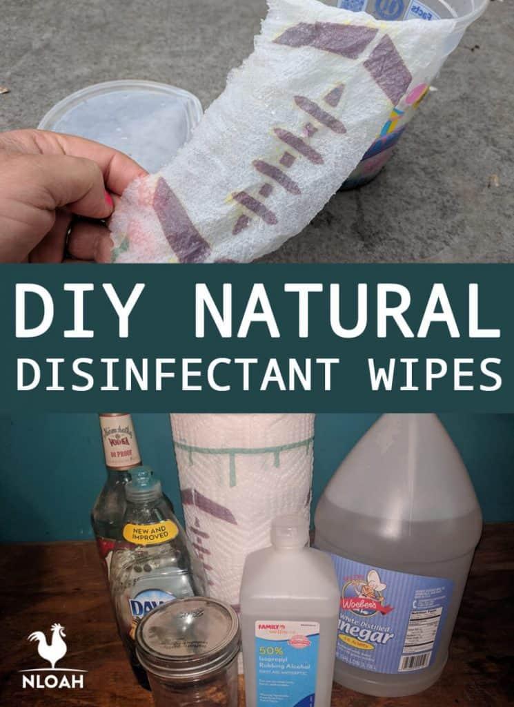 DIY disinfectant wipes pinterest
