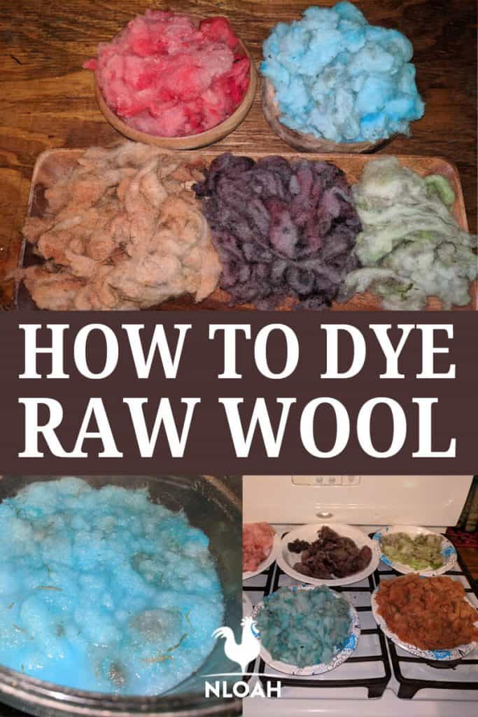 dyeing raw wool pinterest